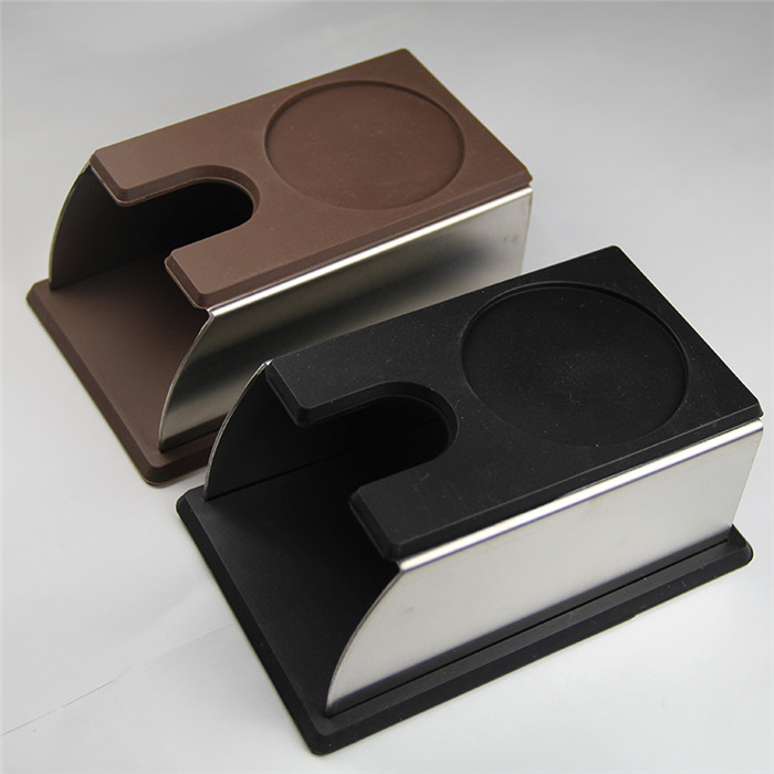 Perfect Coffee Black Silicon Espresso tamper Mat holder support base rack 143x93x65mm no coffee tamper