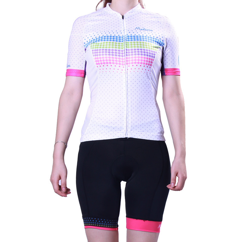 2018 Womens Summer Snowflake Pattern Cycling Sets Short Sleeve Cycling Jersey MTB Bike/Bicycle Wear Anti-sweat Cycling Clothing