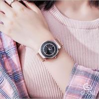 GUOU Watch Women Luxury Brand Stainless Steel Wrist Watches Fashion Rose Gold Ladies Watch Clock Reloj Mujer Relogio Feminino