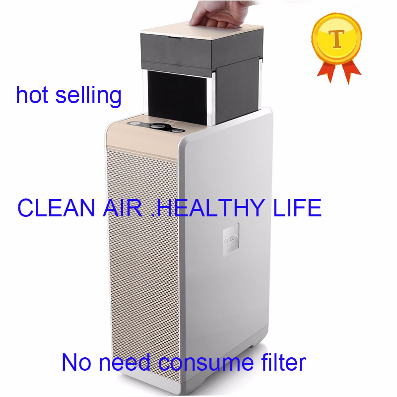 2018 new non consume filter water clean Electrostatic precipitator purifier with PM Color Sensor indicator pk