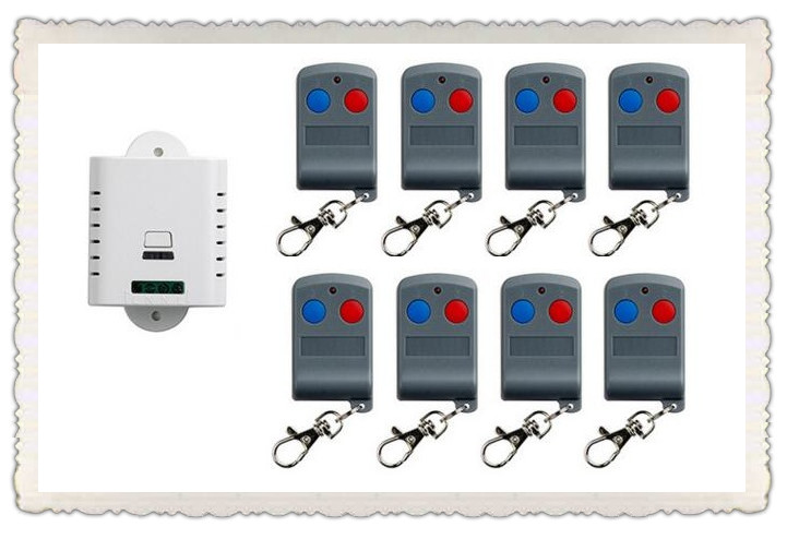 latest AC 85V 110V 120V 220V 250V 1CH RF Remote Control Switch System 8X Transmitter + 1 X Receiver 1ch relay smart home z-wave ac 85v 250v wireless remote control switch remote power switch 1ch relay for light lamp led bulb 3 x receiver transmitter