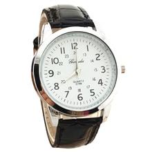 Gerryda male Trend digital Leather-based belt quartz Wrist Watch Black