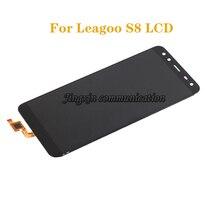 جديد شاشة الكريستال السائل ل LEAGOO S8 شاشات مراقبة تعمل باللمس LCD مكون محول الأرقام الجمعية ل leagoo s 8 إصلاح أجزاء