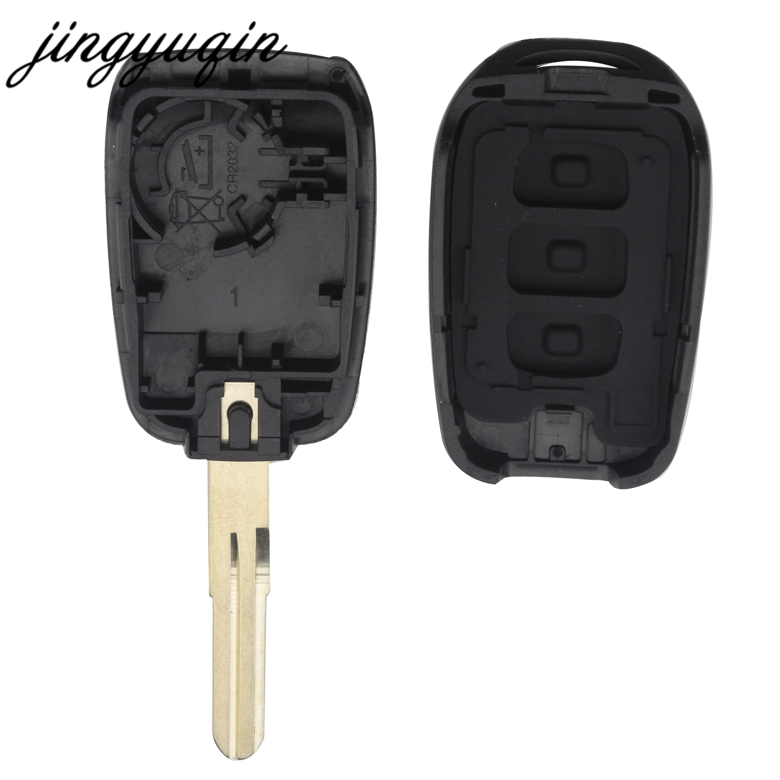 Jingyuqin 10pcs/lot 2/3 Button New Remote Key Shell For Renault Duster Key Fob Case Cover Replacement