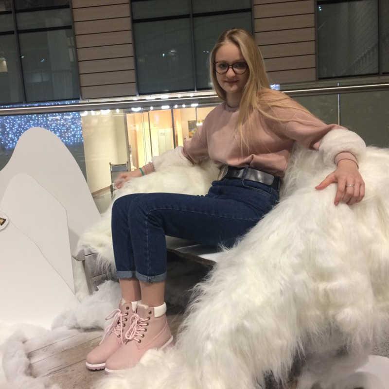 Женские розовые ботильоны Fujin, розовые ботильоны на платформе и каучуковой подошве, сезон весна-лето-осень 2019