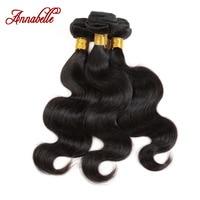 Brazilian Virgin Hair human Hair Unprocessed 6A Annabelle Hair Products Brazilian Body Wave Brazilian Hair Weave Bundles 3pc lot