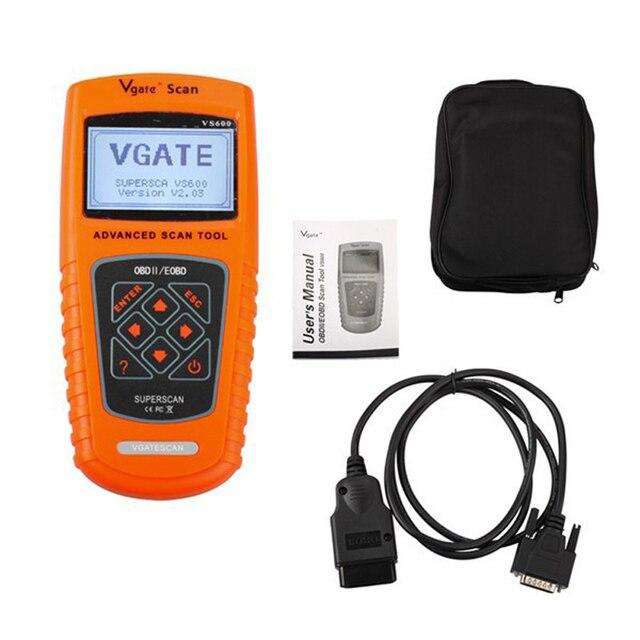 New Arrival Vgate Scan Tool VS600 VAG OBD2 EOBD Scanner Automotive Auto Diagnostic Tool Scaner Escaner Automotriz Free Shipping