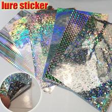 NEW fishing lure sticker fish skin, DIY jig stickers fly tying materials, big size 100mm x 150mm 6papers/lot