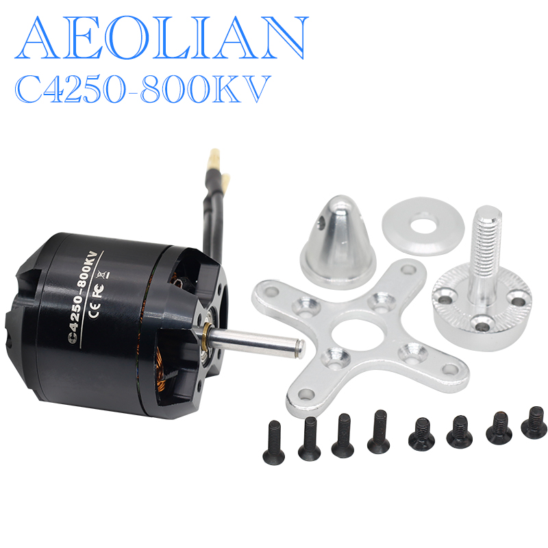 Free shipping New Aeolian 4250 800kv outrunner brushless electric motor RC airplane motor aeolian 5045 890kv for rc airplane