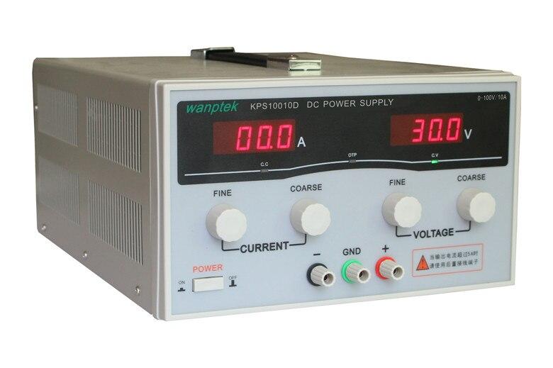 Kps10010d 100 В 10A Высокая точность Мощность регулируемый светодиодный двойной Дисплей импульсный источник питания 220 В ЕС