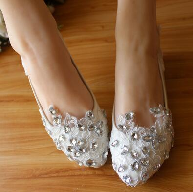 1 Plat 2 Sont Chaussures 3cm Et Cristal Avec Mariée D'eau High En 4 3cm 3 Mariage De New2018 Flat Flat Main La Clouté Blanc Fond Forage Plates RWBZtnUT