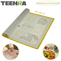 TEENRA 1Pcs Ex Large Silicone Mat For Oven Macaron Silicone Baking Mat Sllpat Scale Rolling Dough