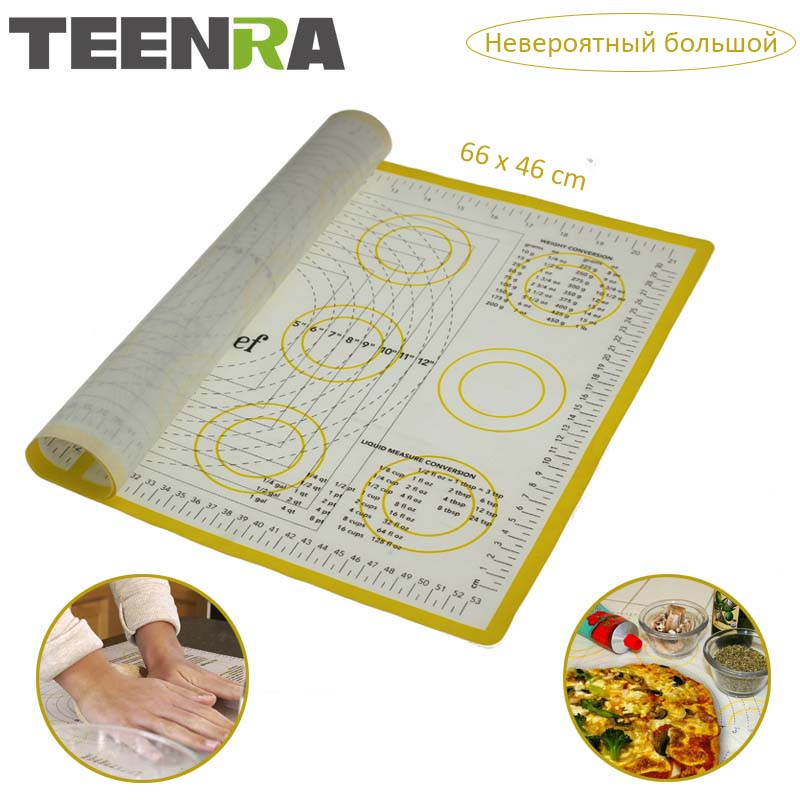 Teenra Ex Large Silicone Mat For Oven Macaron Silicone