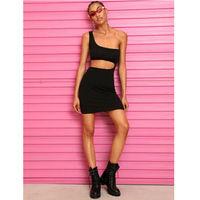 Cool Hip Hop Women Slim One Shoulder Mini Dress
