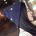 New Design Knitting Yarn Hat Point Top Witch Hat With Bear Bead