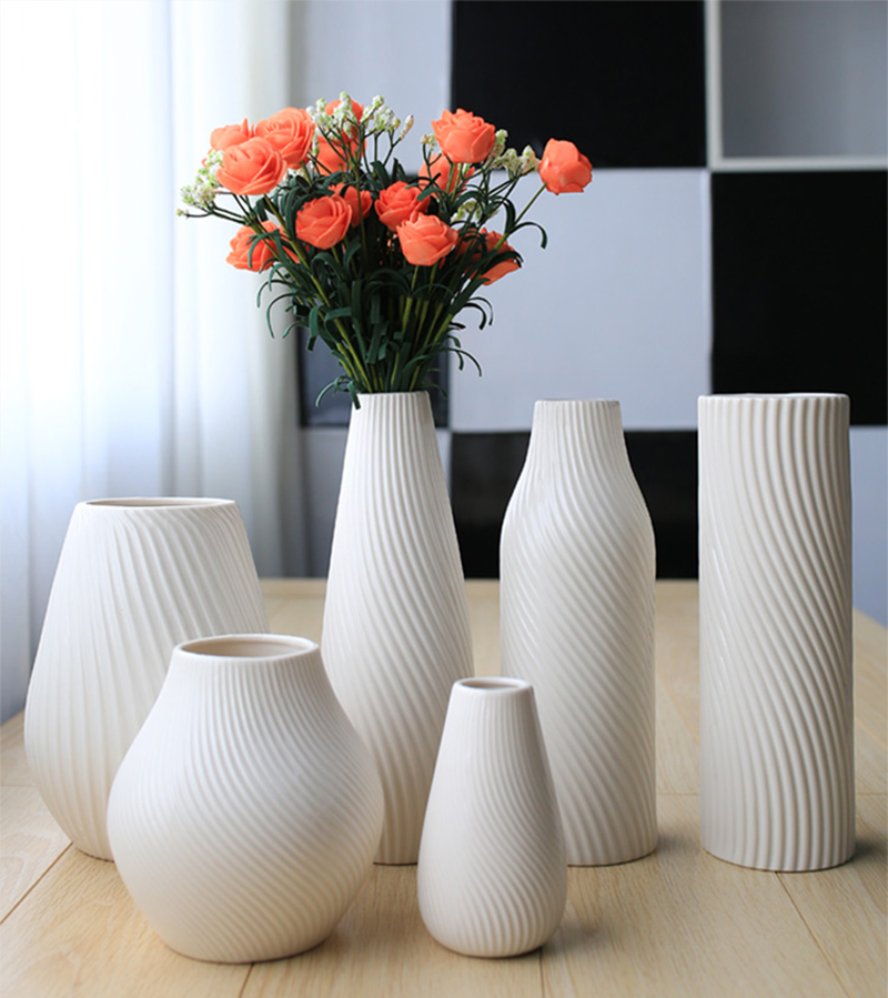 Online get cheap vase flower arrangements for Modern living room vases