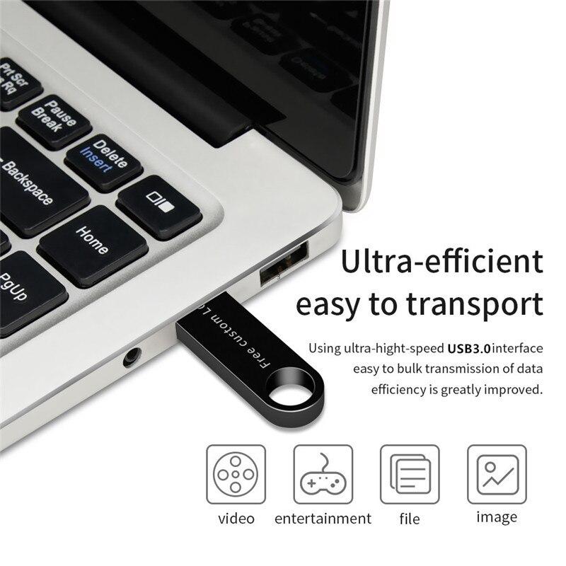 2019 usb stick high speed black key 128gb 3.0 usb flash drive 4gb 8gb 16gb 32gb 64gb flash disk waterproof metal Free print LOGO (6)