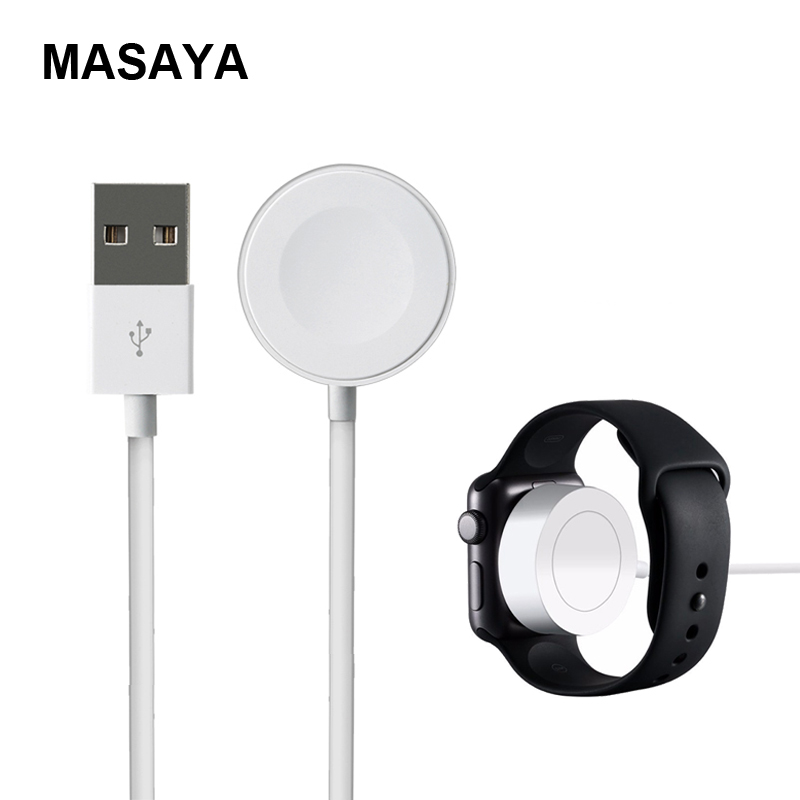 Portable Magentic Charger For Apple Watch Charger 2m/6.5ft USB Charging Cable Dock For iwatch Series 2 3 38/42mm