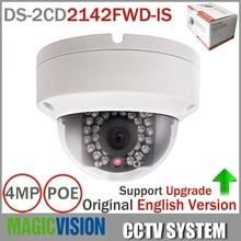 Original English Version DS-2CD2142FWD-IS 4MP Camera POE IP CCTV Mini Camera V5.3.3 Updatable With Alarm I/O Audio Camera