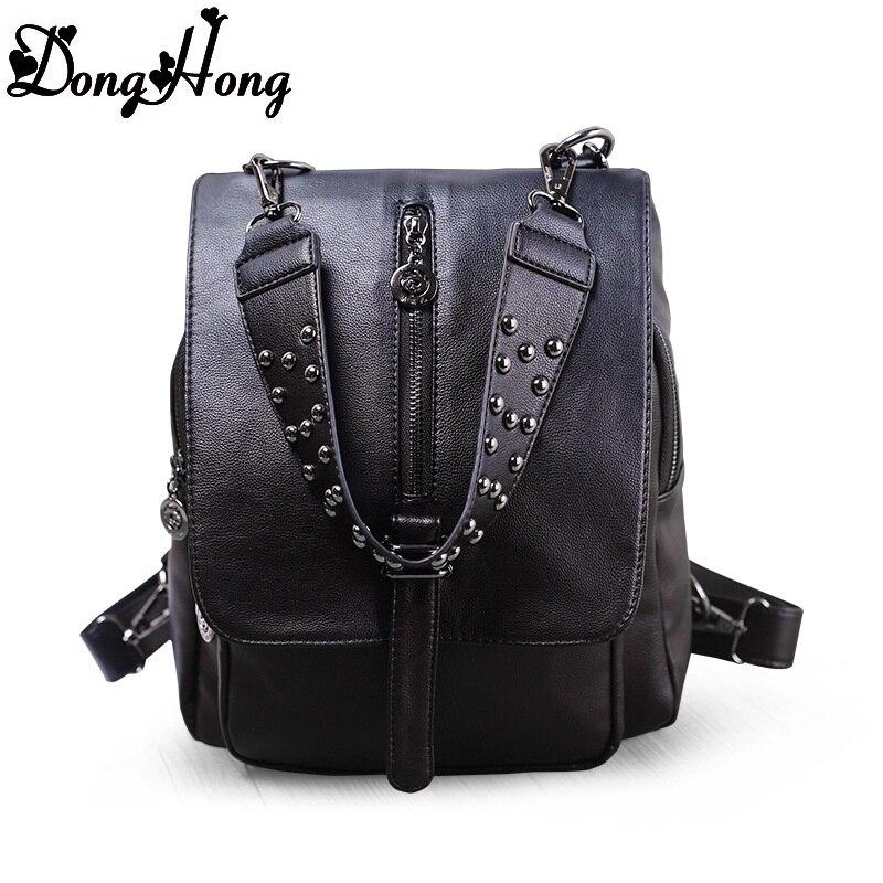 2017 new trend rivet backpack women genuine leather backpack high quality cute school bag for teenager mochila feminina mommy care масло для ванны с календулой и ромашкой mommy care 400 мл