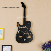 New Creative Design Electric Guitar Wall Clock Wall Clock for Cafe Bar Restaurant Home living room Decor Hanging Clock 1PC