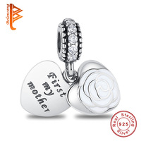 Fit Original Pandora Charm Bracelet 925 Sterling Silver Heart Charm DIY Beads Mother S Day 2017