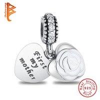 Fit Original Pandora Charm Bracelet 925 Sterling Silver Heart Charm DIY Beads Mother S Day 2017