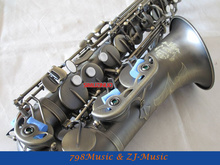 Eb Alto Saxophone Antique Surface High F# With-White Pearl Buttons