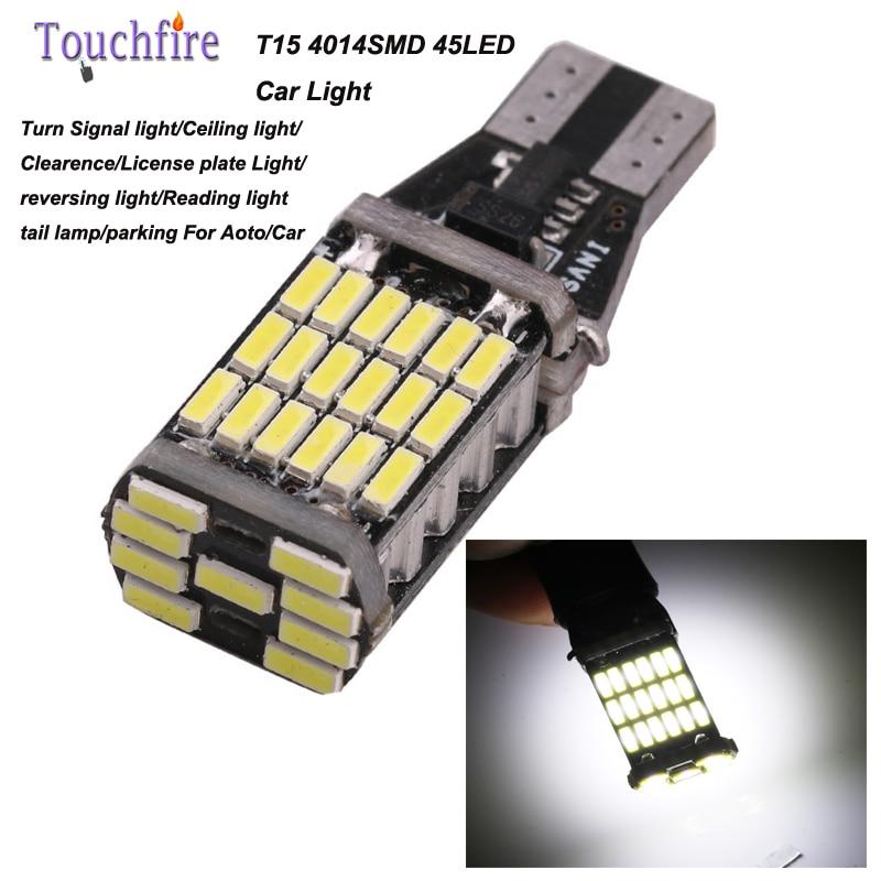 2pcs/lot T15-4014-45SMD Super Bright T15 led chip High power lights car Auto Turn signal Brake lights Bulbs car styling Lamp