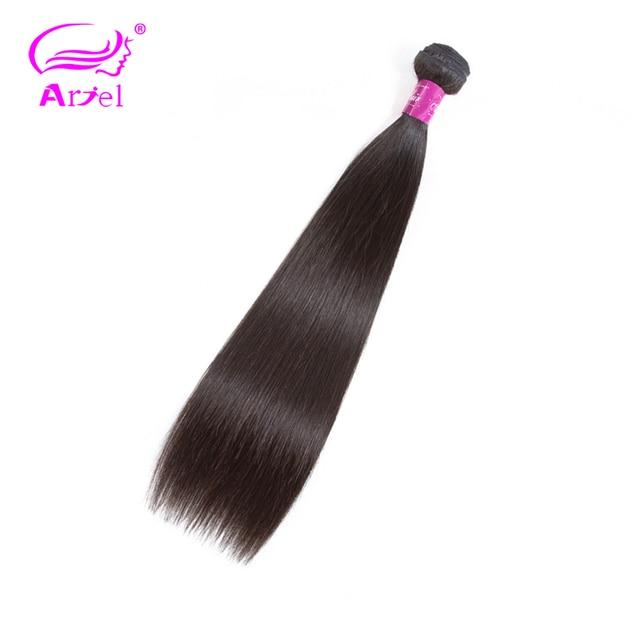 Ariel Peruvian Straight 100% cabello humano 1 pieza armadura de unidades pelo paquetes 10 pulgadas 26 Color Natural envío gratis extensión de cabello no Remy