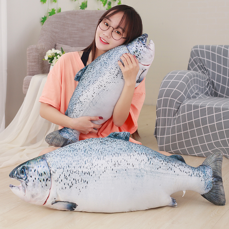 1pc 60/80cm Funny Simulation Weever Plush Pillow Stuffed Cute Animal Fish Toys Dolls Kids Baby Children Creative Christmas Gift