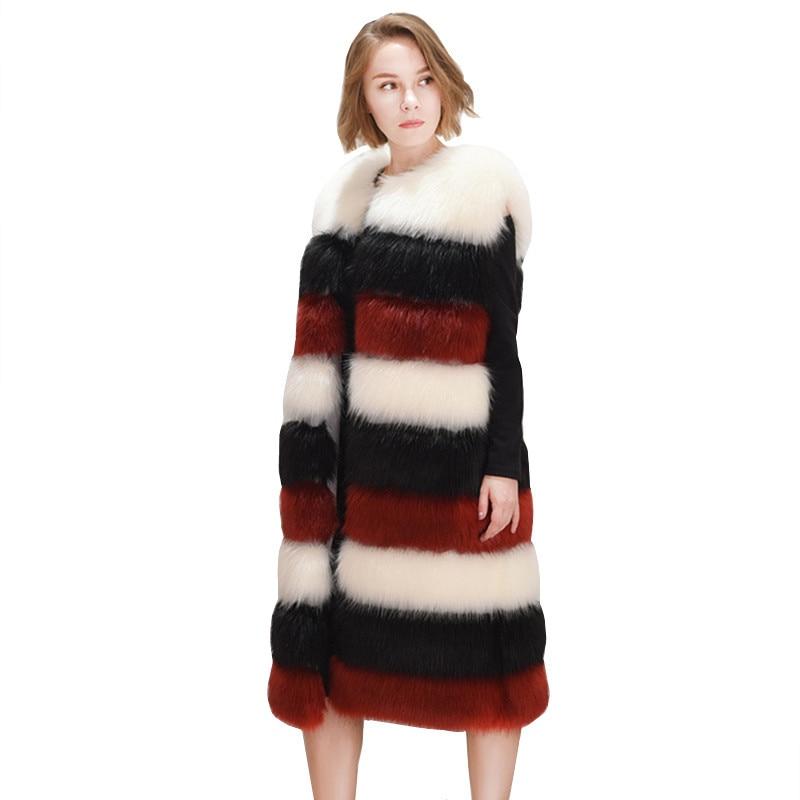 Colete photo Pardessus De Femmes Fourrure Hiver Manteaux Photo Vestes Base En Manteau Color Femelle Color Plus Taille La 2018 Automne Survêtement Gilet Et Fausse Long wgOqdxRFFI