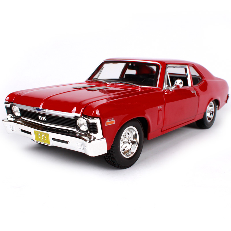 Maisto 1:18 1970 Nova SS Muscle Old Car model Diecast Model Car Toy New In Box Free Shipping 31132 maisto 1 18 2016 camaro ss sports car diecast model car toy new in box free shipping 31689