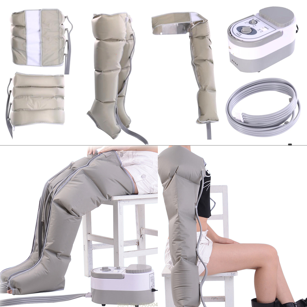 Infrared therapy Air Compression body Massager Waist Leg Arm Relax Instrument Promote Blood Circulation Pain Relief Slimming de natural stone needle body massage acupuncture scrape therapy stick jade guasha promote blood circulation pain relief skin care
