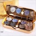 Professional eyes makeup Smoky Eye 3D Eyeshadow Glitter 8 Colos eye shadow palette Eye makeup   M01260