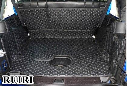 Bonne qualité! Tapis spéciaux de coffre de voiture pour Jeep Wrangler jk 2018-2009 tapis imperméable de doublure de cargaison tapis de botte pour Wrangler 2015