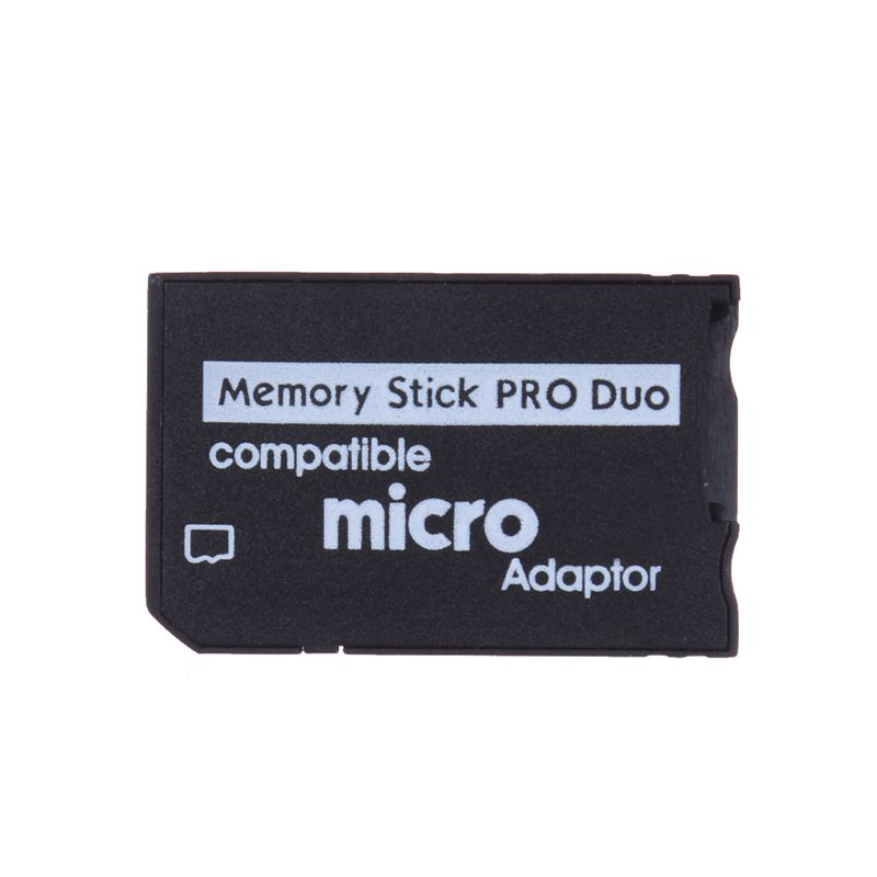 New Mini Memory Stick Pro Duo Card Reader Micro SD TF To MS Card Adapter For PSP Converter Black