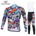 2018 Long sleeve Pro Cycling Jersey set/ Bike uniform Cycling wear Cycle shirt Ropa ciclismo MTB Cycling Clothing quick-drying