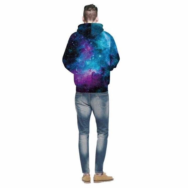 Space Galaxy Starry Sky Print 3D Hoodie 3