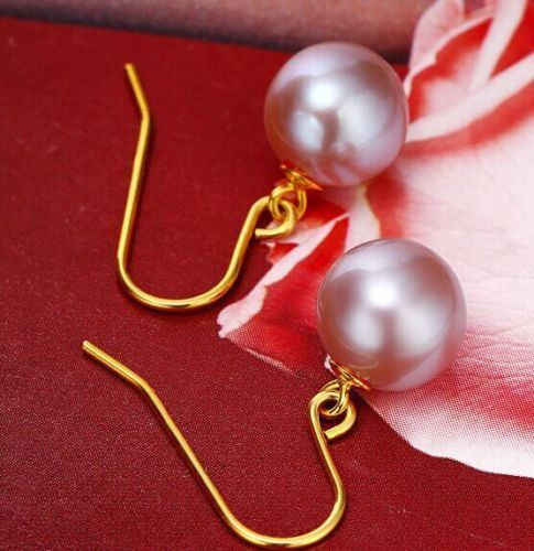 charming luster 10- 9 mm south sea lavender pearl earring 14kcharming luster 10- 9 mm south sea lavender pearl earring 14k
