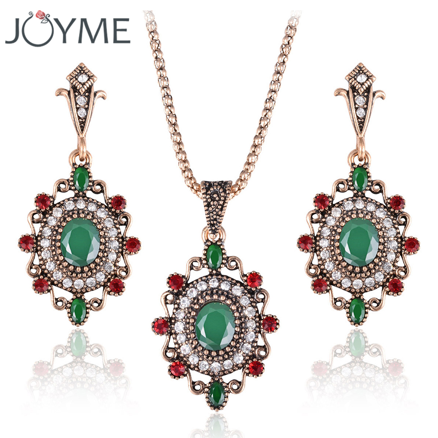 Necklace Set-Accessories Earrings-Sets Jewelry Pendant Collares Crystal African Hanging