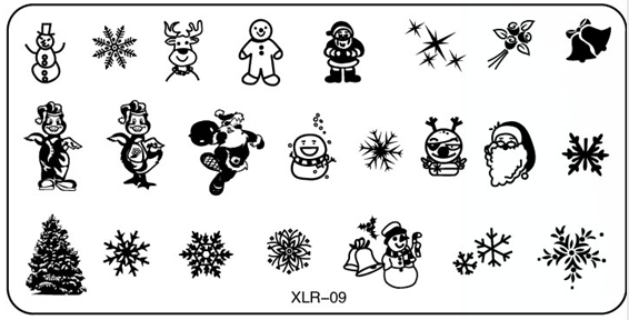 Biutee 20 Designs Set Christmas Nail Art Sting Plates Templates Polish Rectangle St Stencil In From Beauty