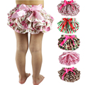 2017 Baby Ruffle Bloomers Layers Diaper Cover Newborn Flower Shorts With Skirts Toddler Cute Summer Satin Pants Free Drop Ship