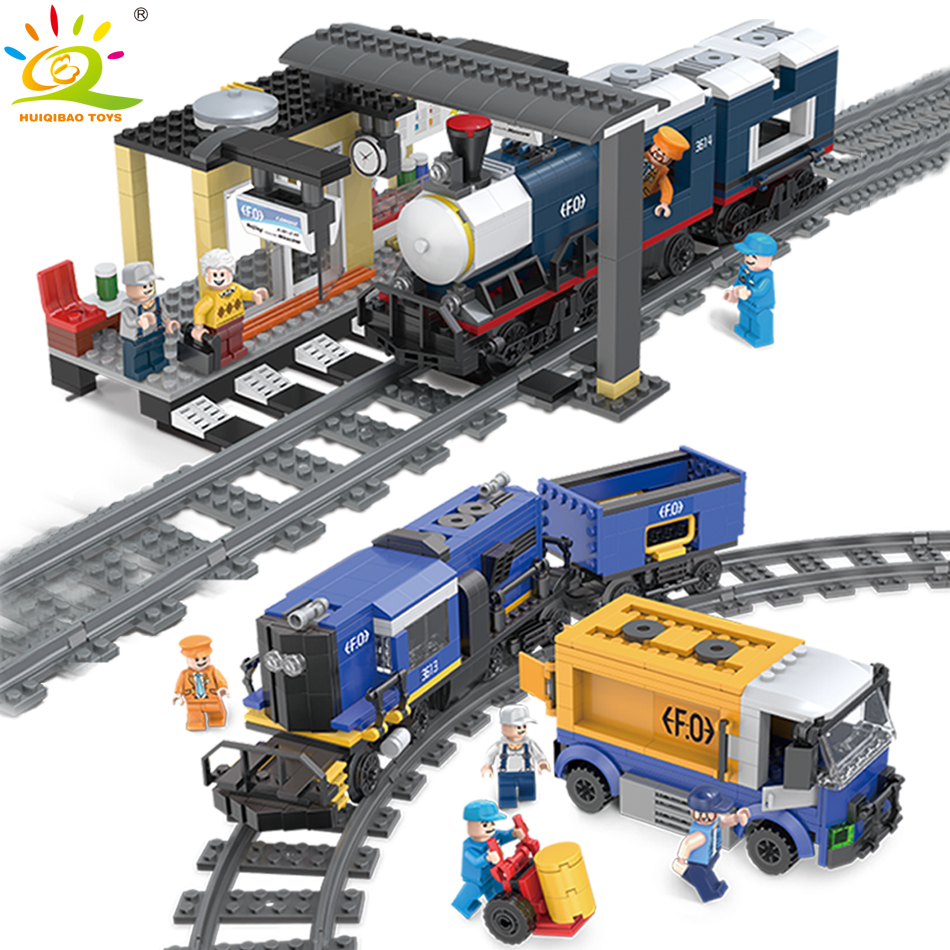Carriage Rails Train station Track Building Blocks legorreta City Creator Figures DIY Educational Bricks Toys for Children BoyCarriage Rails Train station Track Building Blocks legorreta City Creator Figures DIY Educational Bricks Toys for Children Boy
