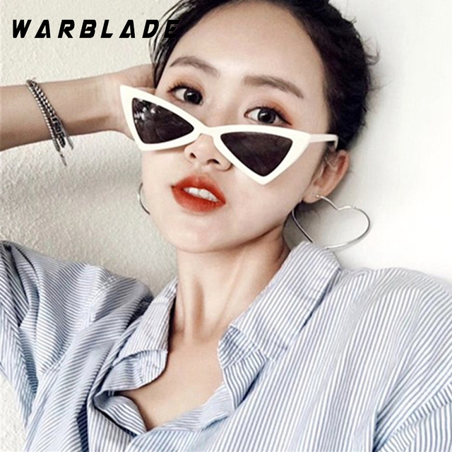 f59271e223 WarBLade red triangle sunglasses women cat eye vintage black leopard cheap  butterfly sun glasses female new year gift 2018