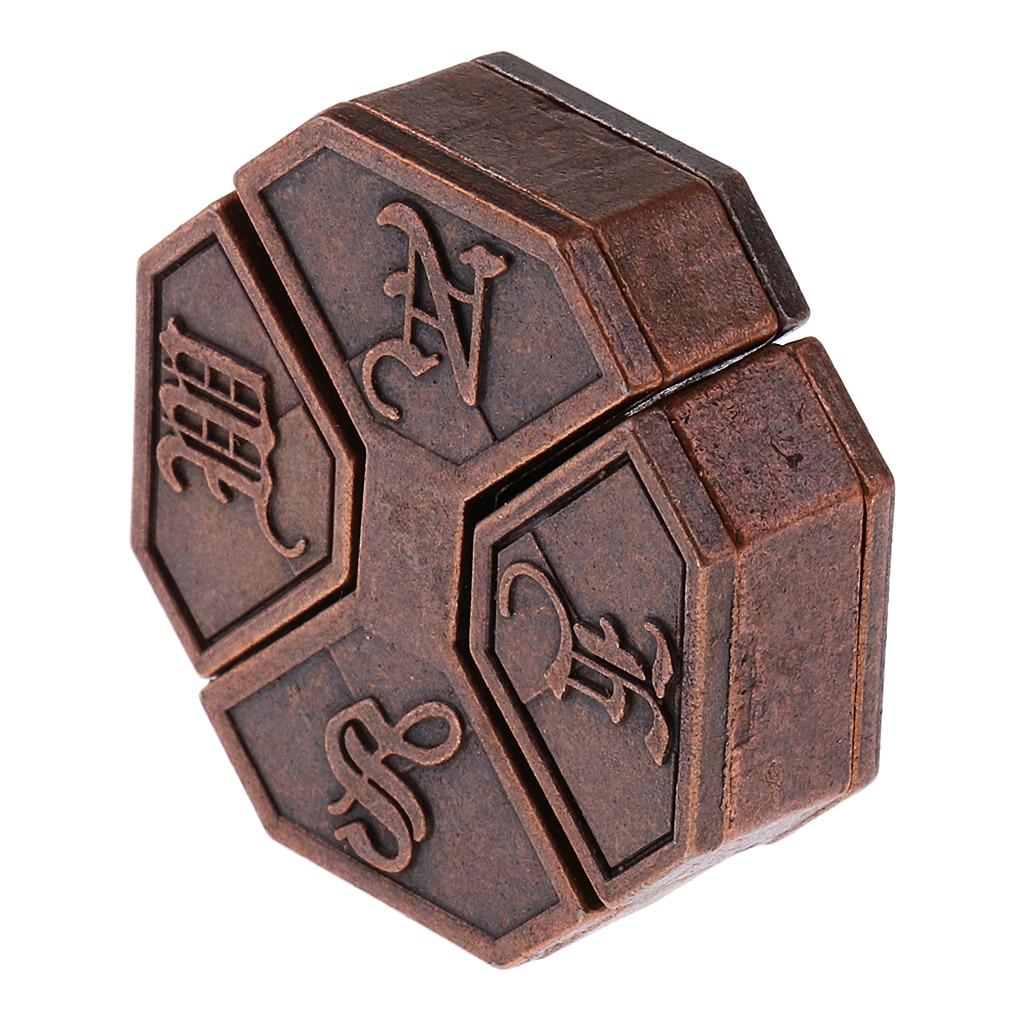 5x Vintage Lock Puzzles Brain Teaser Kids Mind Game Toy IQ Test Magic Trick