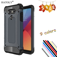 HATOLY For Cover LG G6 Case Shockproof Silicone Rubber Armor Hard Phone Case For LG G6 Cover For LG G6 H870 H570 5.7 inch аксессуар чехол brosco для lg g6 black lg g6 book black