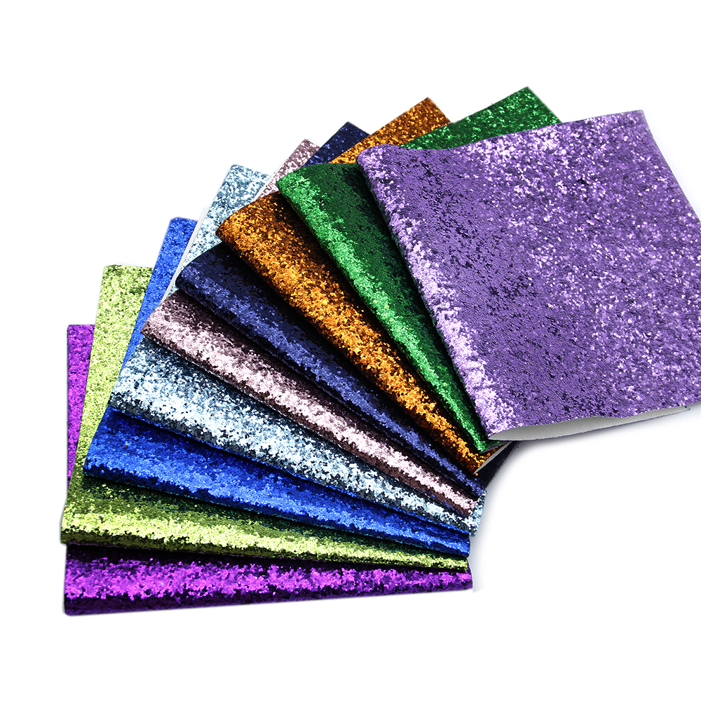 David Accessories 20*34cm Chunky Glitter Fabric Synthetic Leather Sequins Patchwork Bag Shoes Handmade Phone Case DIY,1Yc5788