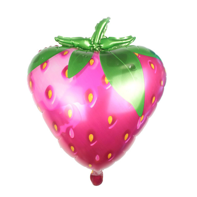 5572cm Large Size Cartoon Fruit Strawberry Foil Balloon For Kids Birthday Party Decoration Wedding