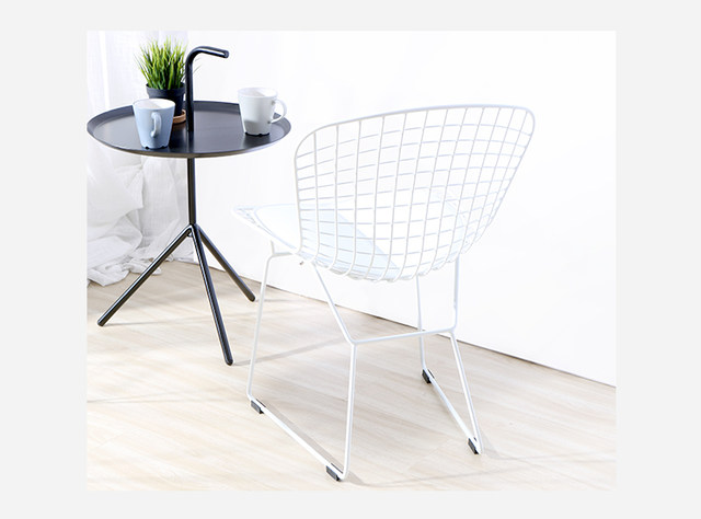 Online Shop Modern Classic Black White Powder Coating Harry Bertoia - Bertoia coffee table